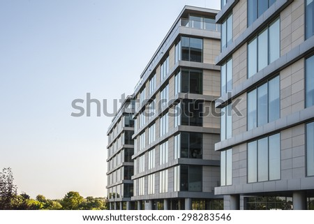 modern apartment buildings - stock photo