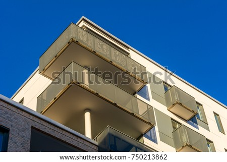 Modern Apartment Buildings Blue Sky Facade Luxury Home