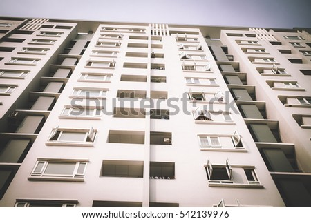 Modern Apartment Buildings Exteriors In Sunny Day Part 49