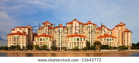 Modern Apartment Buildings in Singapore. - stock photo