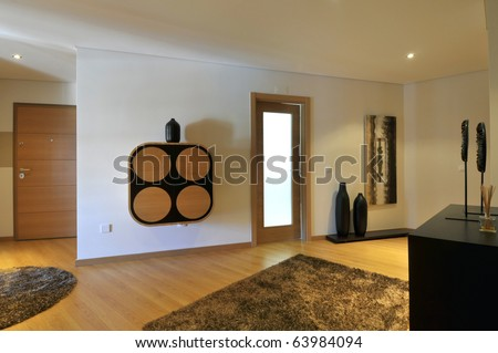 Modern apartment hall decoration - stock photo