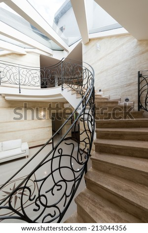 Modern apartment hall interior - stock photo
