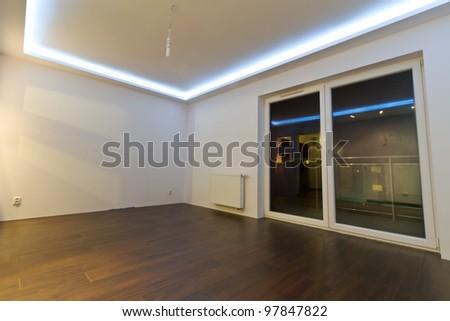 Modern apartment interior after renovation - stock photo