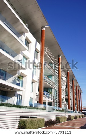 Modern apartments in Auckland, New Zealand - stock photo