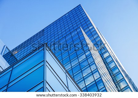 Modern architecture bank financial office tower building