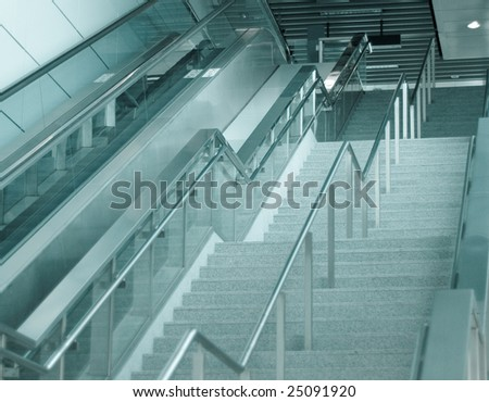 Modern architecture building interior design with nobody