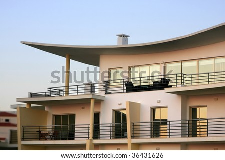 Modern architecture - Closeup of a building - stock photo