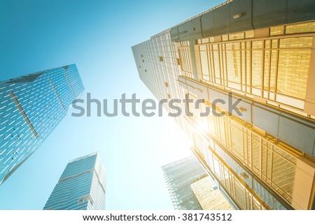 Modern architecture,Guangzhou China - stock photo