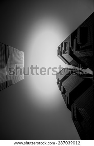 Modern architecture in black and white