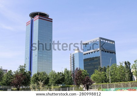 Modern Architecture In Italy brescia buildings modern office stock images, royalty-free images