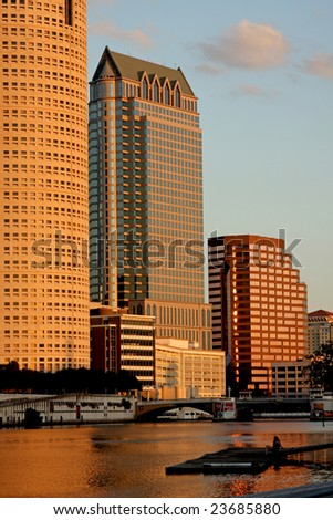 Modern Architecture in Downtown of Tampa, Florida USA - stock photo