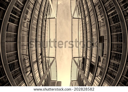 Modern Architecture in Munich, Germany. Business Concept - stock photo