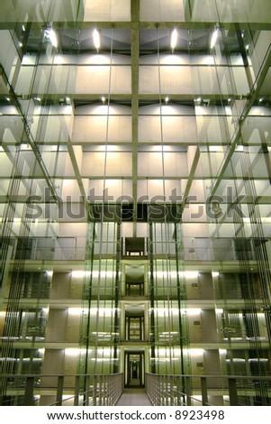 modern architecture, interior - stock photo