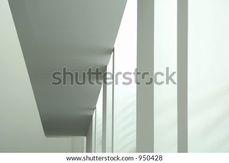 modern architecture - interior of a modern museum