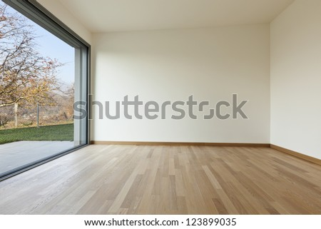 modern architecture new empty apartment room stock photo royalty