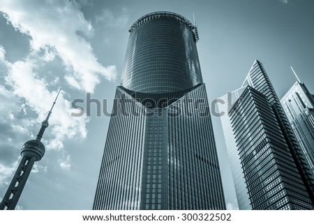 Modern Architecture of Shanghai Chinese ,Shanghai is a International metropolis - stock photo