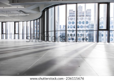modern architecture with good condition/empty office/empty office - stock photo