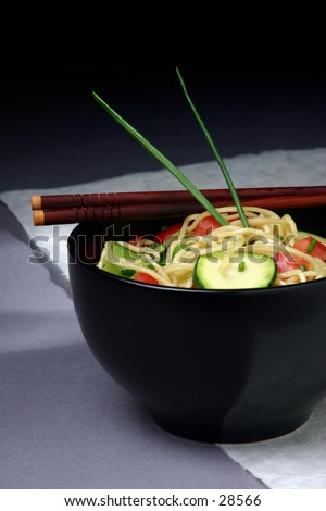 Modern Asian Noodle dish. - stock photo