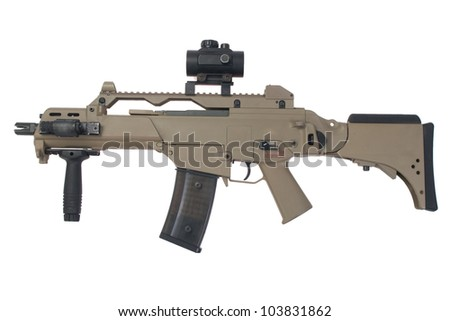modern assault rifle G36 - stock photo