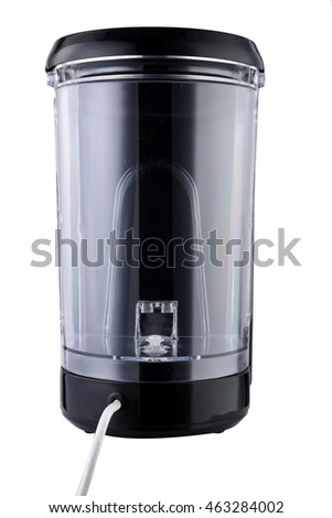 Modern automatic kettle on white background