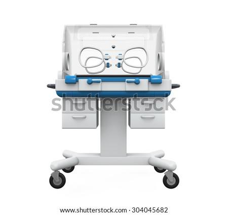 Modern Baby Incubator - stock photo