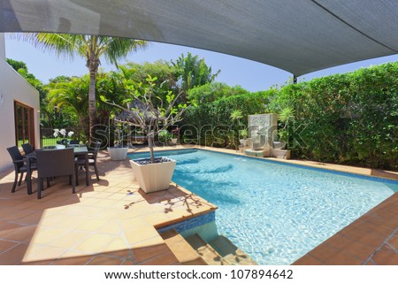Queenslander house stock images royalty free images vectors shutterstock for Swimming pool entertaining areas