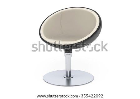 Modern Ball Chair on a white background - stock photo