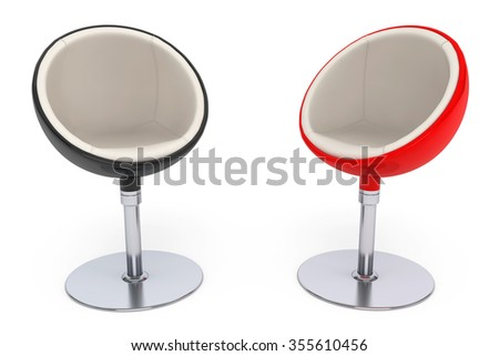 Modern Ball Chairs on a white background - stock photo