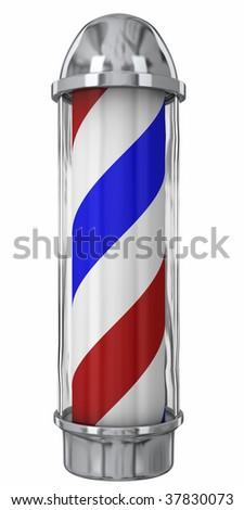 Modern Barber Pole - stock photo