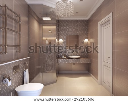 Modern spacious bathroom suite designed luxury stock photo 204279535 shutterstock - Deco wc modern ...