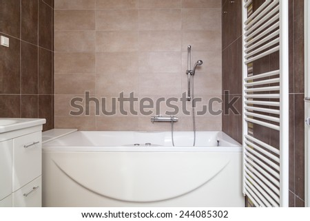 Modern bathroom interior - stock photo