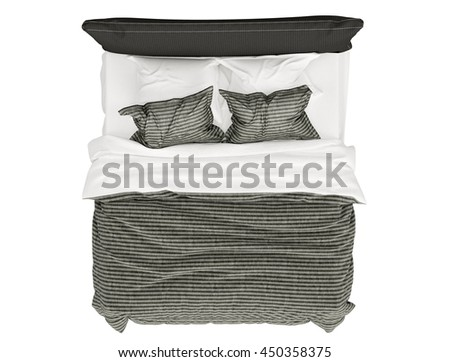 double bed top view. Modren Top Modern Bed Isolated On White Background Top View For Double Bed Top View A