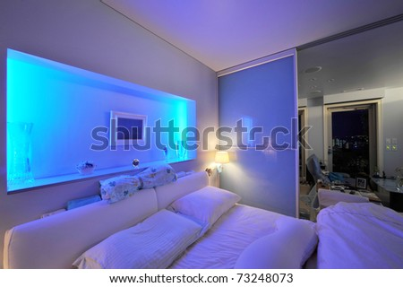 Modern bedroom-1 - stock photo