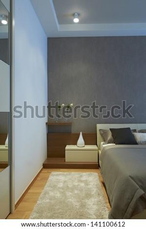 Modern bedroom interior - stock photo