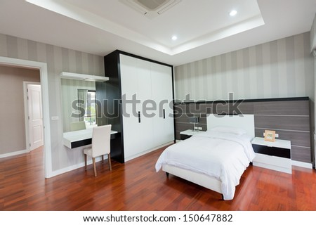 Modern bedroom interior - stock photo