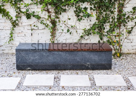 Modern bench - stock photo