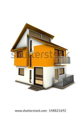 modern big home  - stock photo