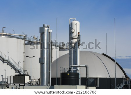 Modern bio-gas plant using sugar beet pulp as a renewable form of energy production.