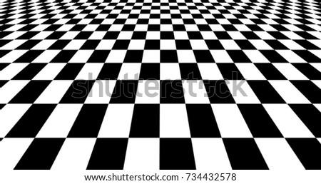 Modern Black And White Chess Board Background Design