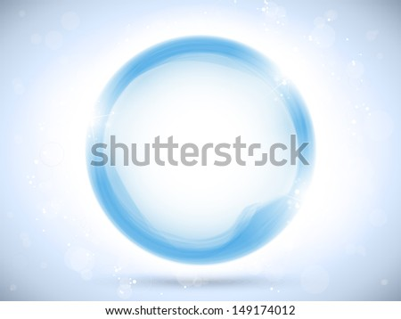 Modern Blue Circle Glowing Effects - stock photo