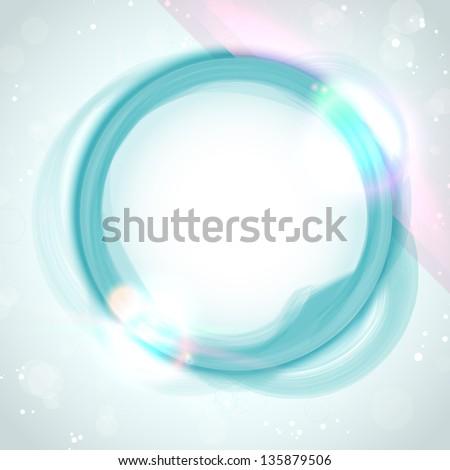 Modern Blue Green Circle Glowing Effects - stock photo
