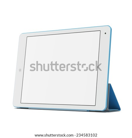 Modern blue tablet pc - stock photo
