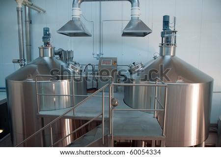 Modern Brewery - stock photo