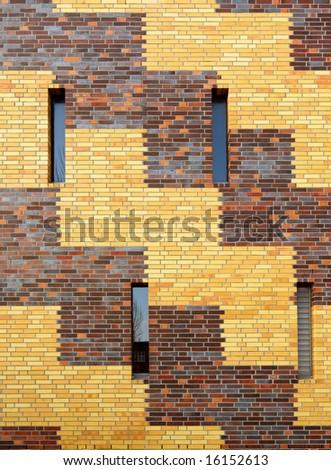 modern brick wall - stock photo