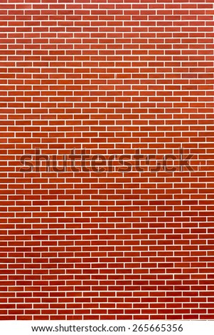 Modern brick wall. Brick red wall a background. - stock photo