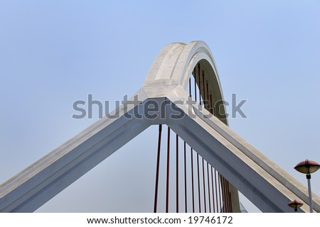 Modern bridge in Seville
