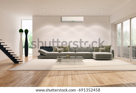 Modern Bright Living Room Lounge Interior Stockillustration Inspiration Bright Living Room Interior