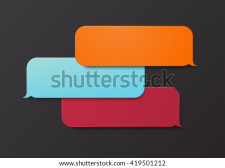 modern bubble speech or chat background - stock photo