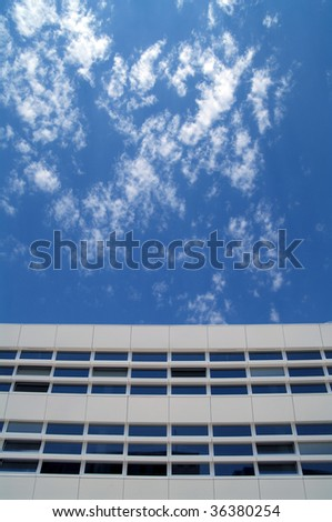 modern building and cloudy sky