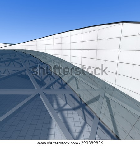 Modern building, Architecture background